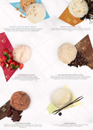 East India Company Ice Cream Selection
