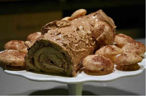 corsican chestnut yule log recipe image