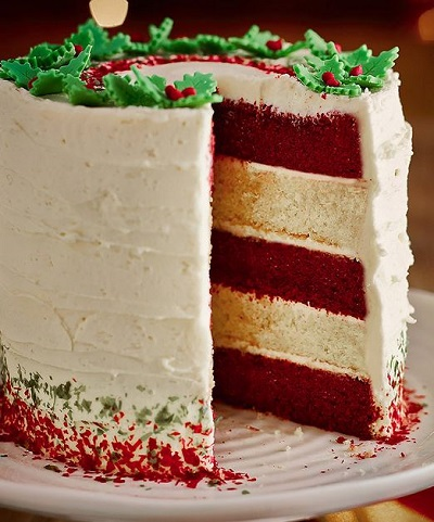 red velvet white chocolate layer cake