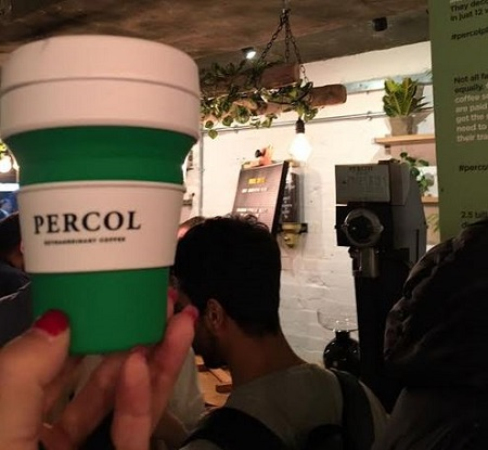 percol reuse cup I'm getting my FREE COFFEE in