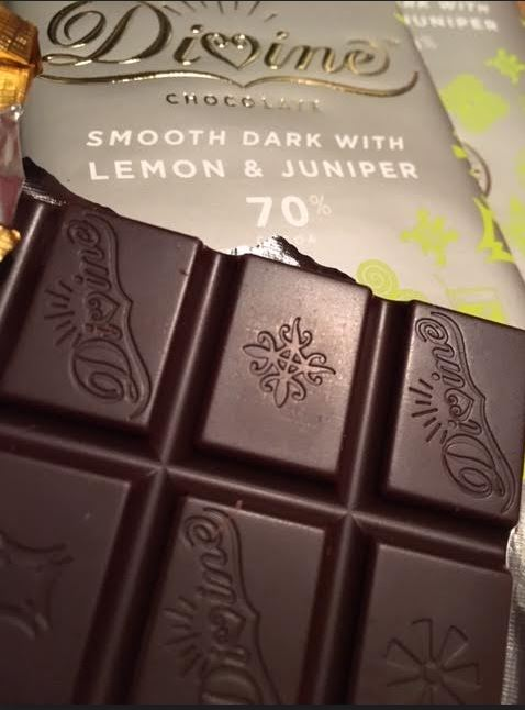 Gin and Tonic chocolate by Divine Chocolate - limited edition