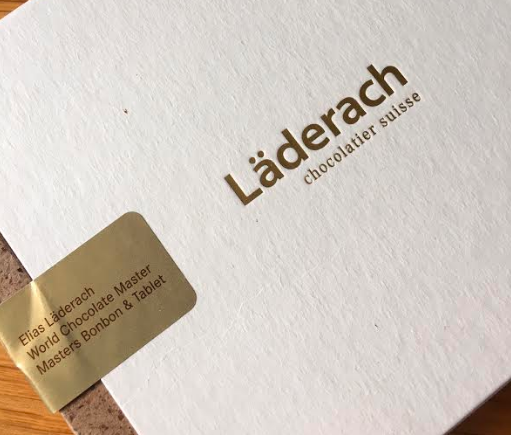 Image of Elias Laderach chocolate box outside