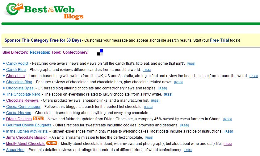 Mostly About Chocolate is on the best of the web blogs