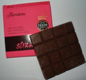 Thorntons Milk Chocolate with Strawberries