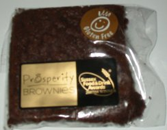 prosperity gluten free brownie