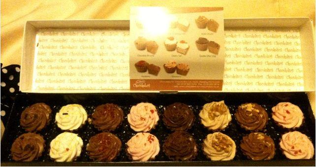 cupcake chocolates inside box