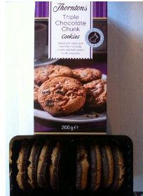 thorntons triple chocolate chunk cookies