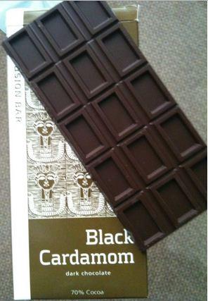 artisan du chocolat black cardamom bar