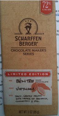 Scharffen Berger ben tre chocolate wrapper