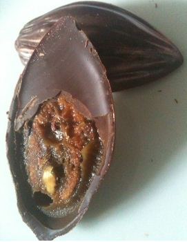 paul a young cocoa pod open