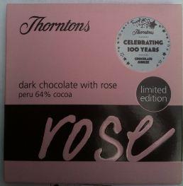 thorntons rose chocolate bar