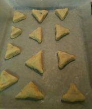 toblerone shortbread cookies unbaked