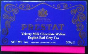 prestat earl grey milk chocolate wafers
