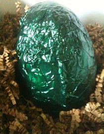 Montezuma's Super Thick Half Dark and Half Milk Chocolate Egg with Truffles