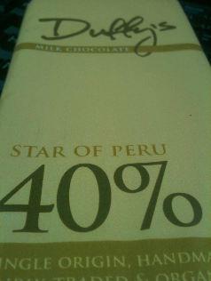 duffy star of peru milk chocolate bar