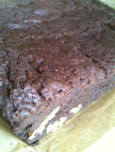 chocolate ladies brownies cut