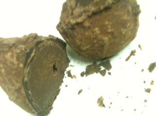 William Curley Laurent Perrier Champagne Truffles cut