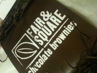 Fair & Square Chocolate Brownies packaging