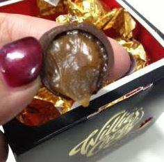 Willies Cacao Black Pearls Sea Salt Caramel Dark Chocolate Balls