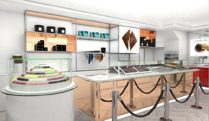 Pierre Marcolini in London shop interior