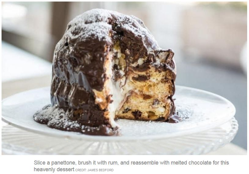 Double-chocolate filled panettone